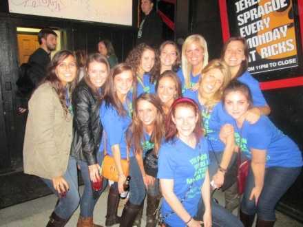 Dietetics bar crawl. Only a fraction of the group we had.