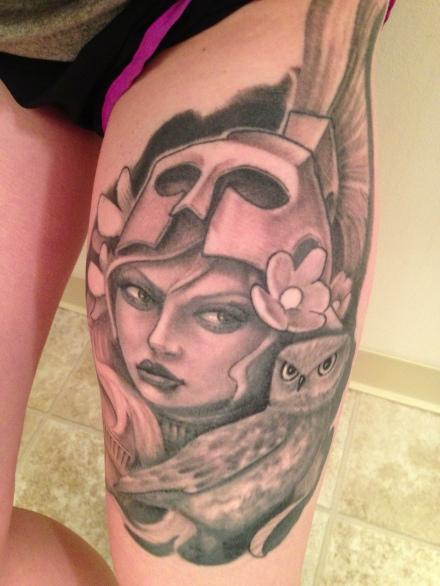 Got my Athena tattoo finished. In love.