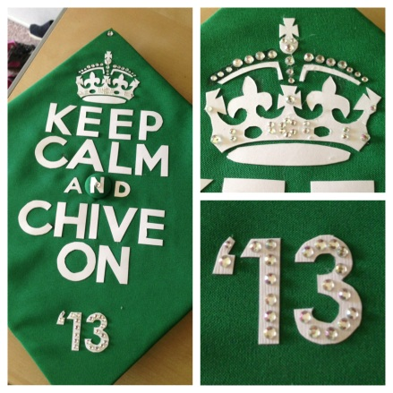 Decorated my cap in true Chivette fashion.